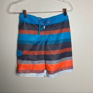 Nike stripped blue/orange boys board shorts